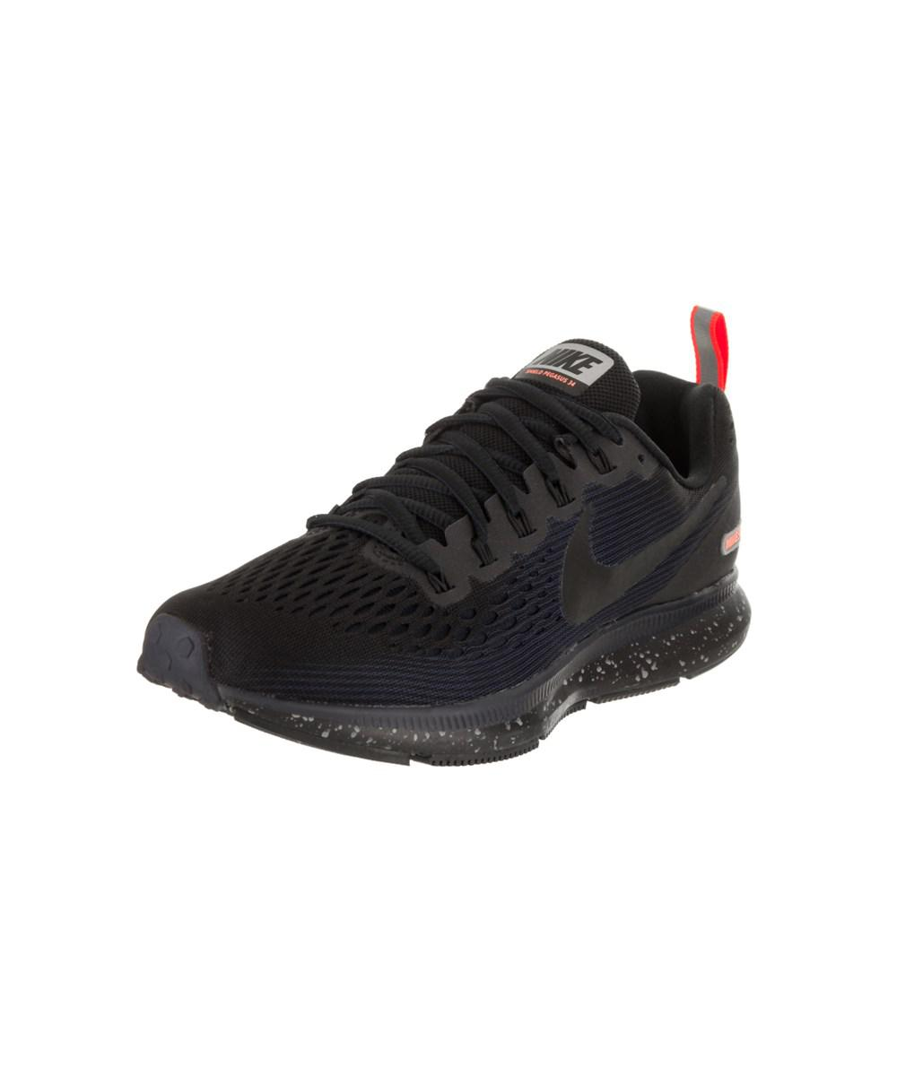 4130d99024af Nike Women s Air Zoom Pegasus 34 Shield Running Shoe in Black