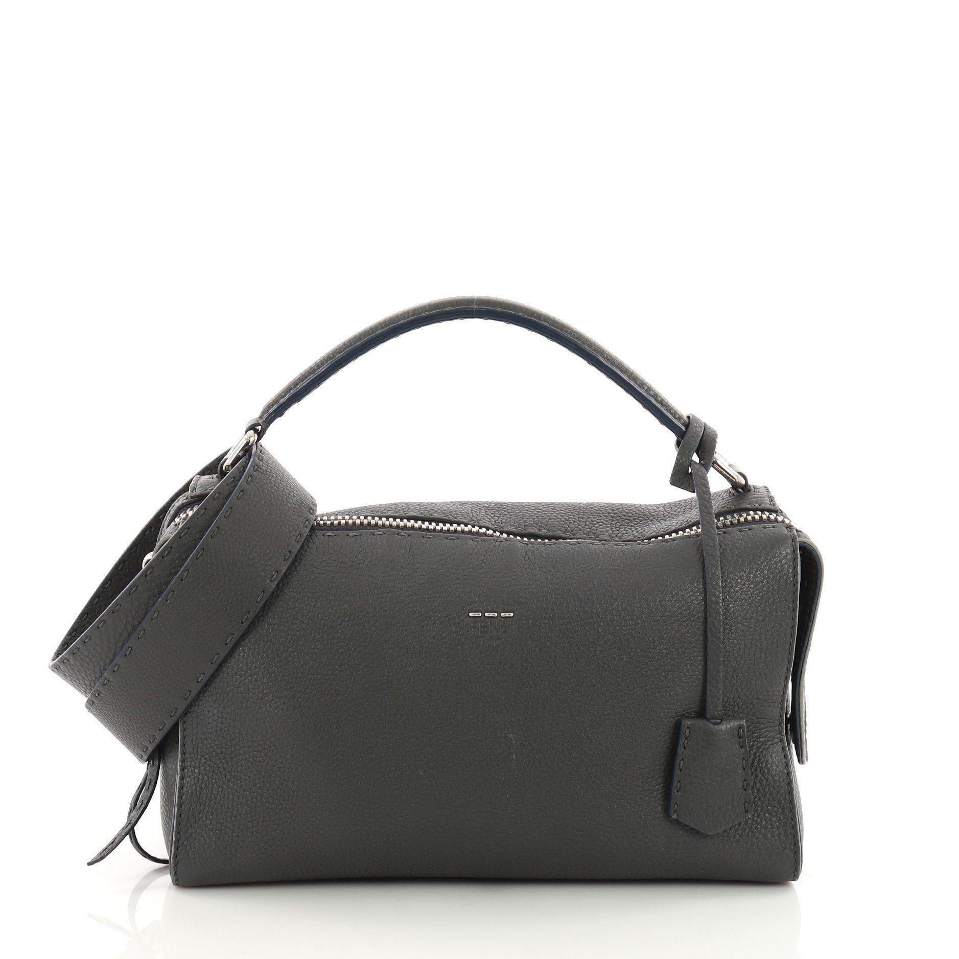 64609873b9bd Fendi Pre Owned Selleria Lei Bag Leather in Black - Lyst