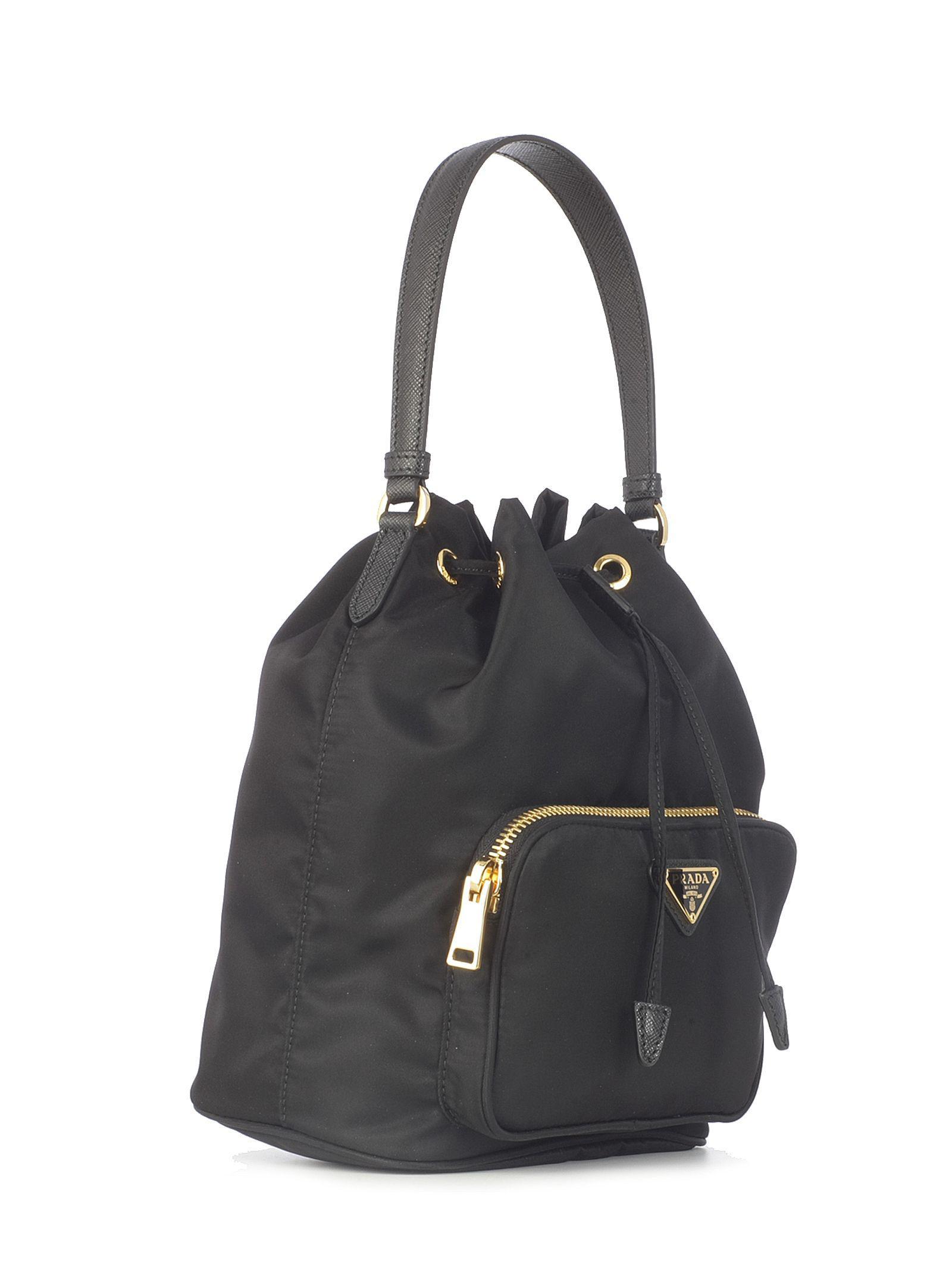 966ce321a0 Prada - Women s Black Polyamide Handbag - Lyst. View fullscreen