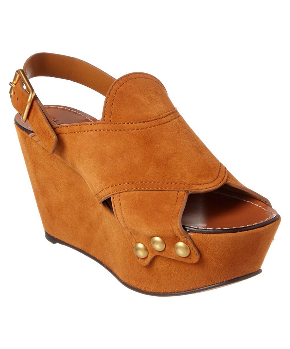 Chloé Cork Platform Sandals Coral in orange Sandalen für Damen hS8GGpqIO2