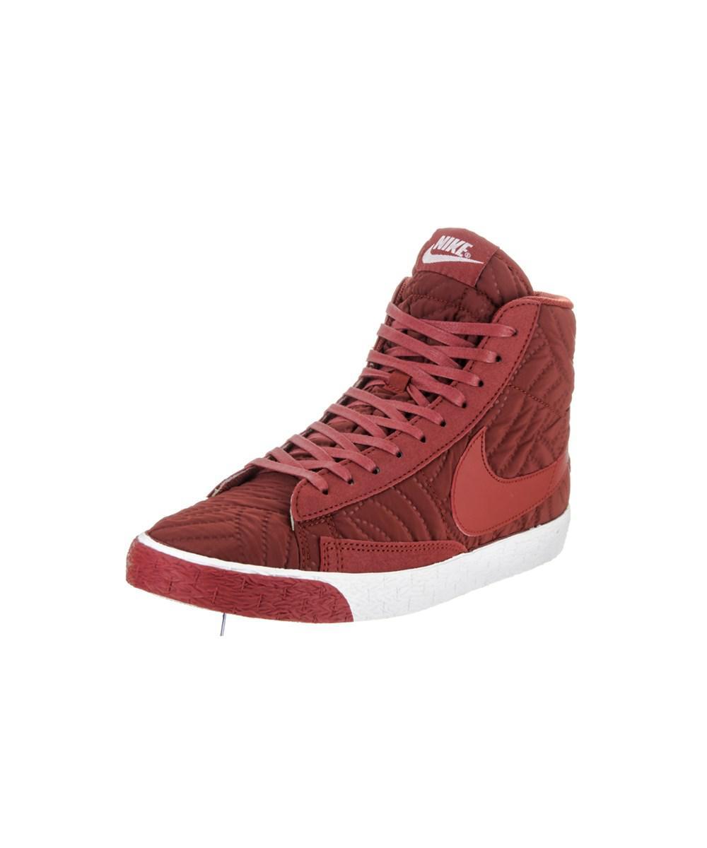 Nike. Red Women's Blazer Mid Prm Se Casual Shoe