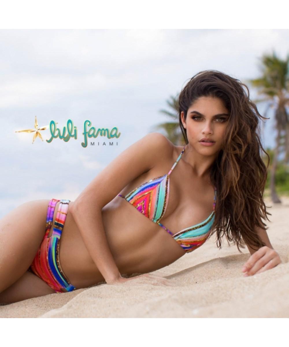 lyst - luli fama multicolor bikini-bottom slip bellamar