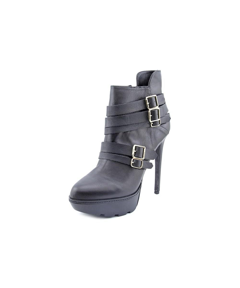 Womens Akademi Leather Almond Toe Ankle Fashion Boots