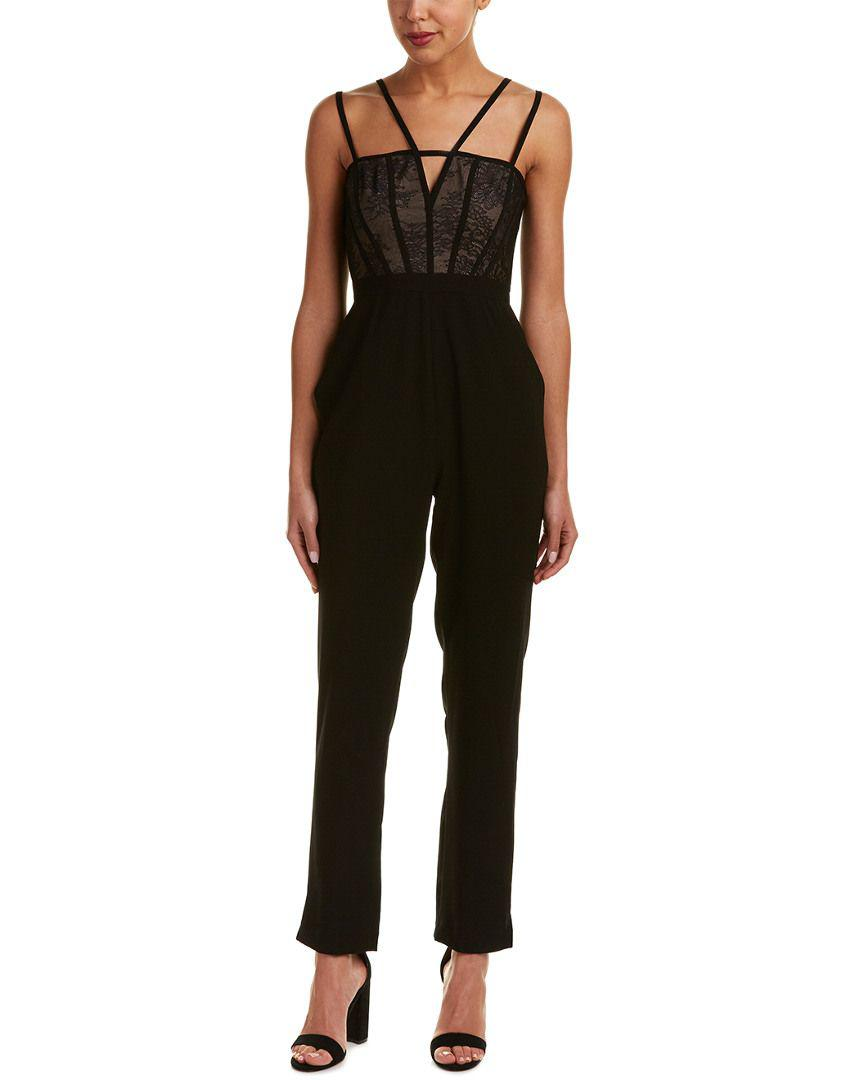 734c0d25eaab Lyst - Bcbgmaxazria Caged Bodice Jumpsuit in Black - Save ...
