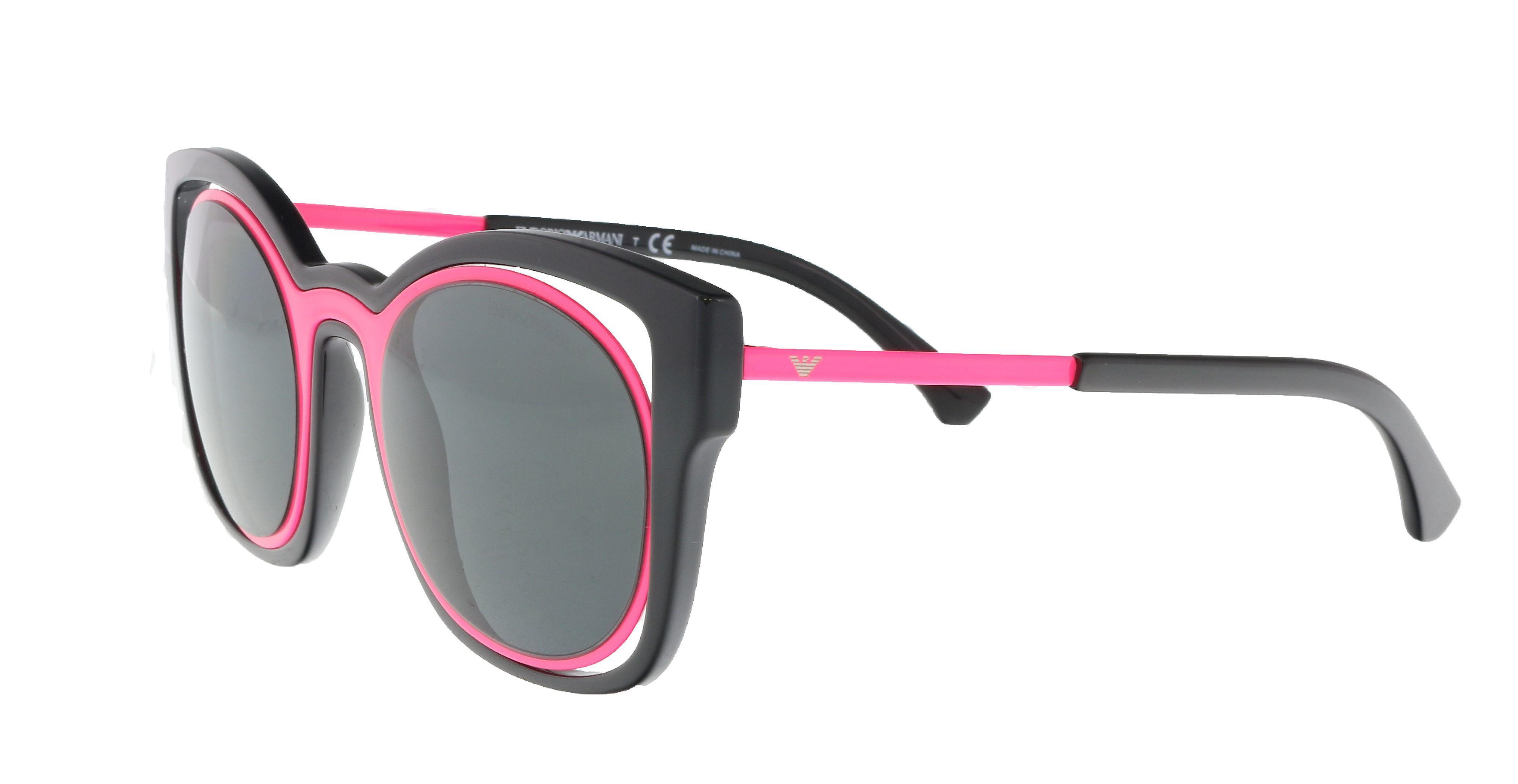 bcce4e7f18c Lyst - Emporio Armani Ea4091 558987 Black magenta Cat Eye Sunglasses ...