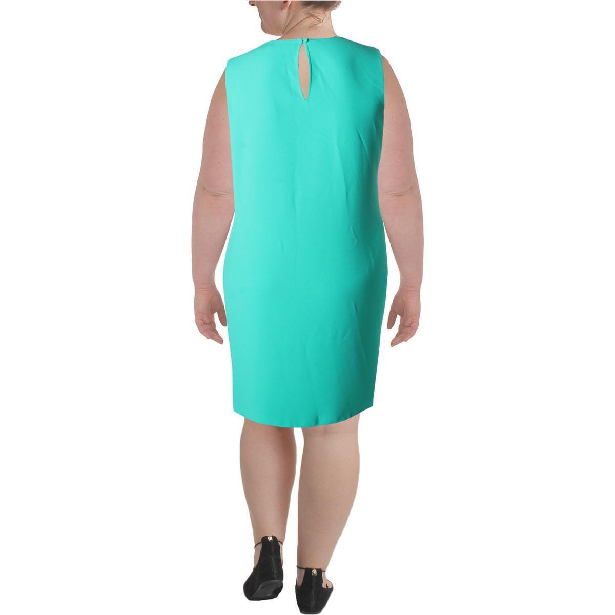 43f4f0d2fa ... Womens Plus Casual Ruffled Wear To Work Dress - Lyst. View fullscreen