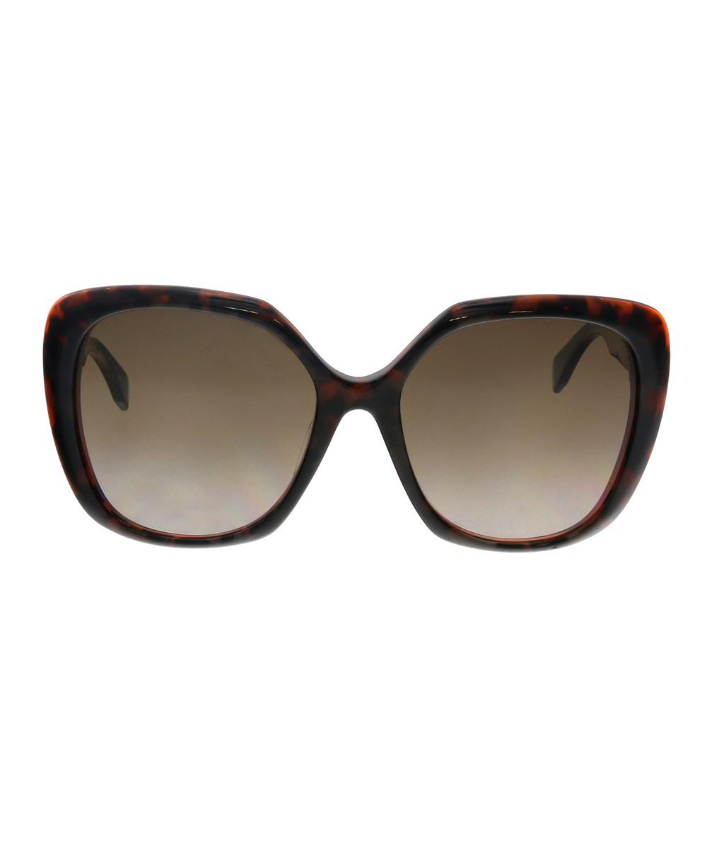 99aaa578129 Lyst - Fendi Ff 0107 f s 0d5t J6 Havana Grey Orange Square ...