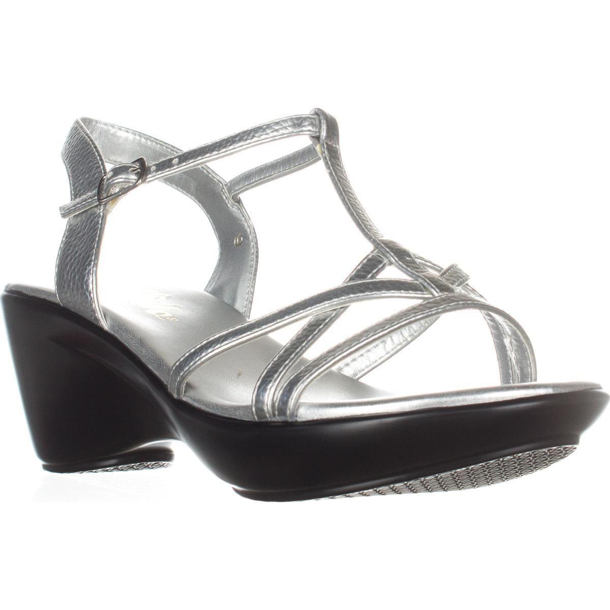 367fdf53cde9 Callisto. Women s Metallic Caressa Wedge Dress Sandals
