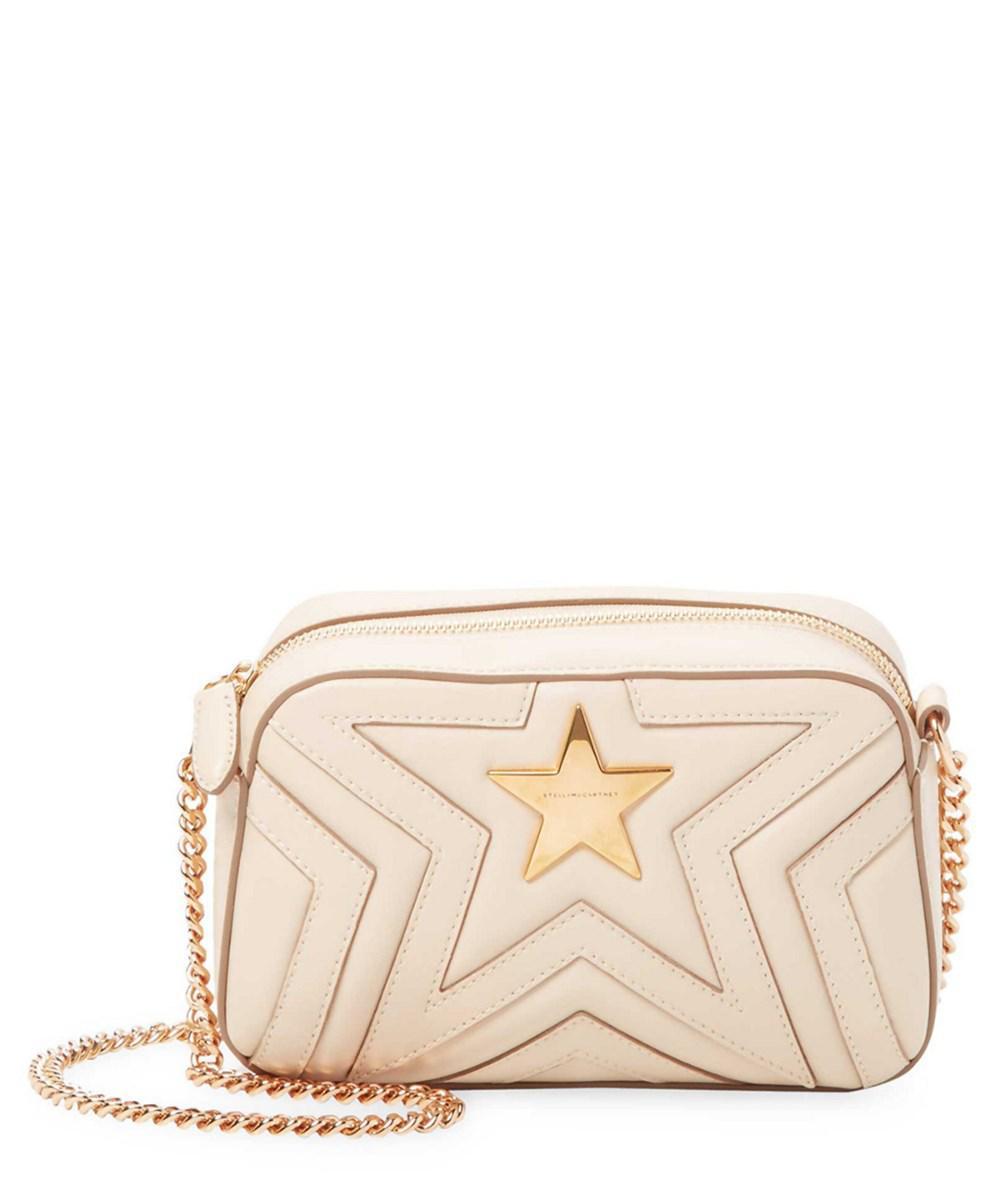 Lyst - Stella Mccartney Mini Star Camera Bag in Natural a50fd094f7455