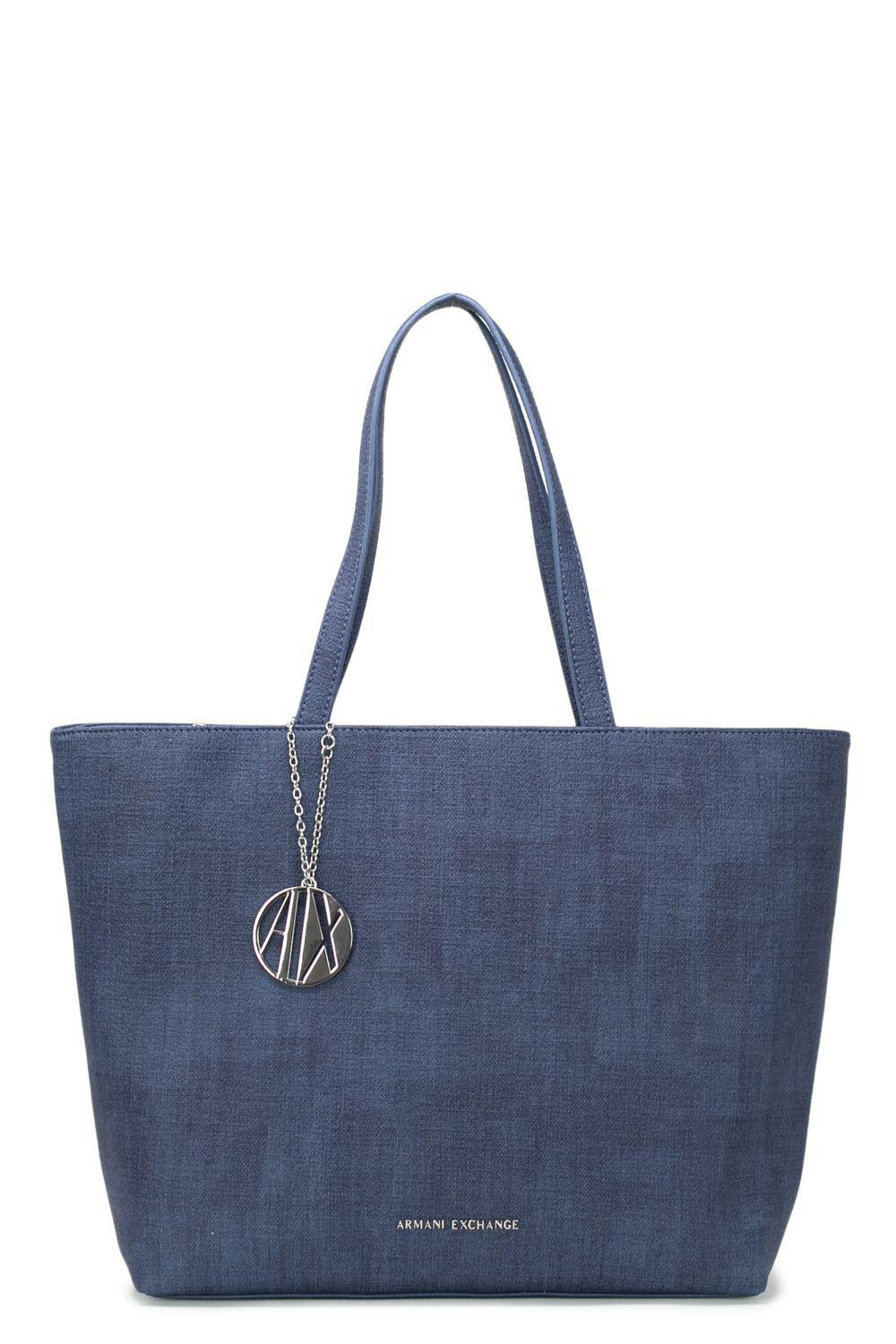 1d8575b8b0ed Armani Exchange - Women s Blue Polyester Tote - Lyst. View fullscreen