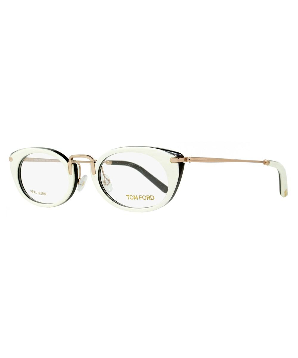 9d1ad91ed4 Tom Ford - White Oval Eyeglasses Tf5257 028 Size  50mm Ivory Buffalo Horn gold.  View fullscreen