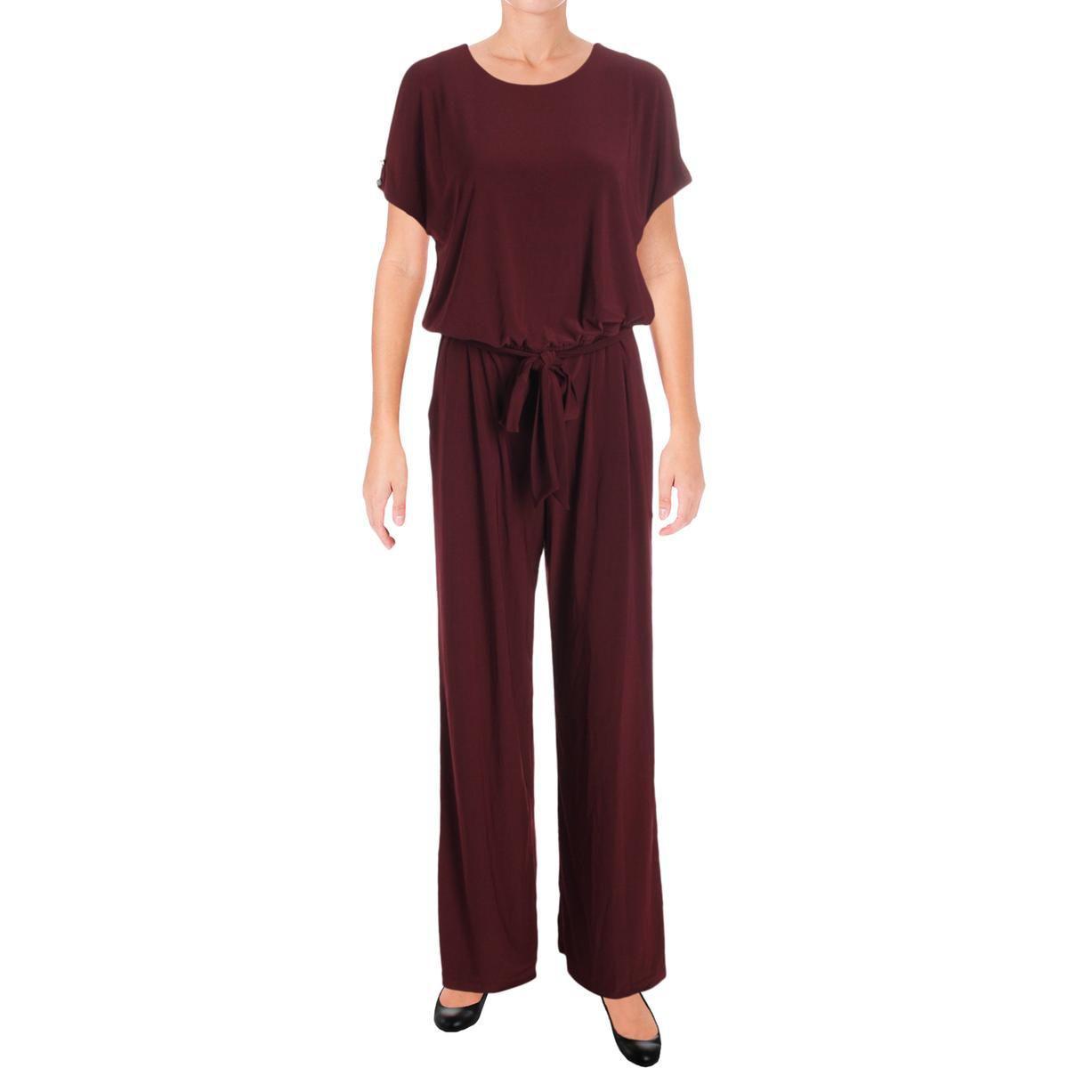 d59c3b09cb4 Lyst - Lauren By Ralph Lauren Womens Cold Shoulder Wide Leg Jumpsuit ...