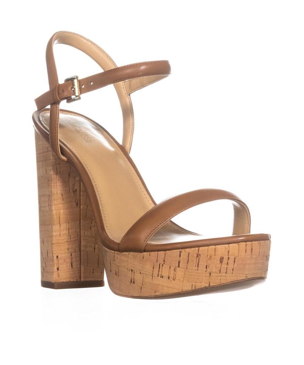 a0d36a533cf Michael Kors. Women s Brown Michael Dallas Platform Ankle Strap Sandals ...