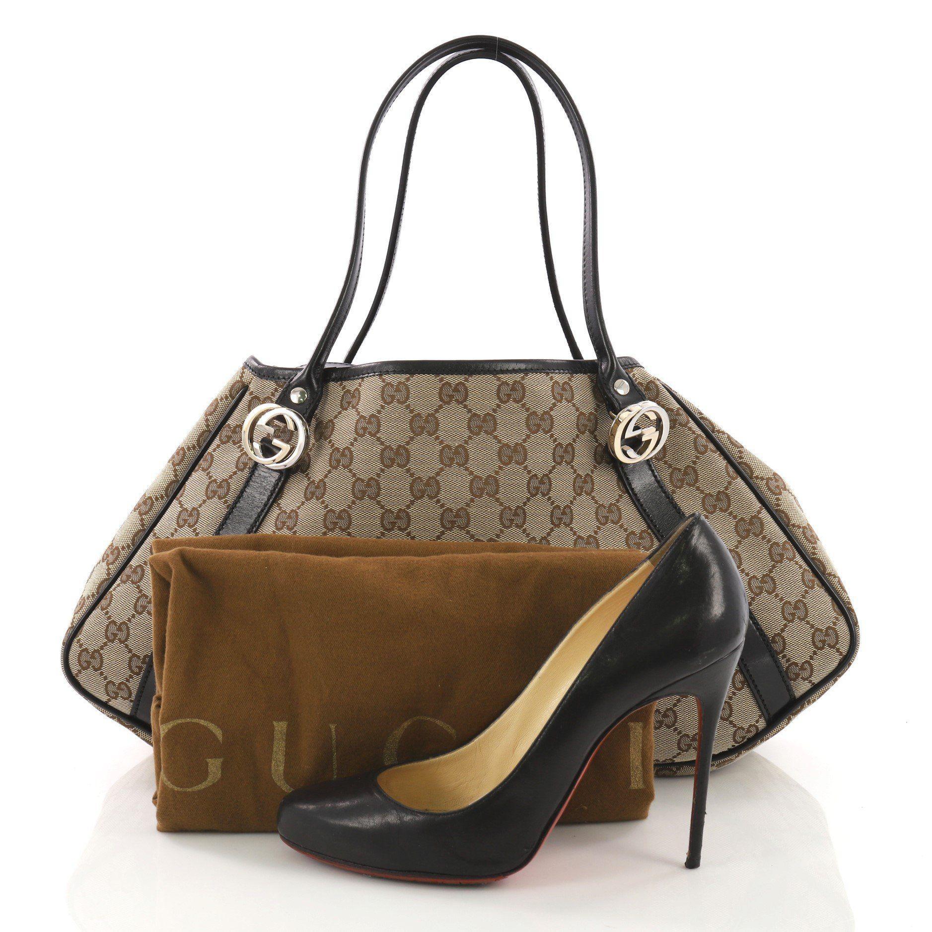99bd03e531c Lyst - Gucci Pre Owned Twins Shoulder Bag GG Canvas Medium
