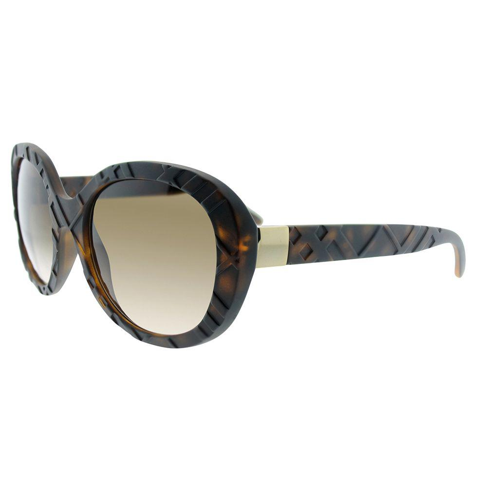 10eb0b2c83c8 Burberry. Women s Be 4218 357813 56 Matte Dark Havana Oval Sunglasses