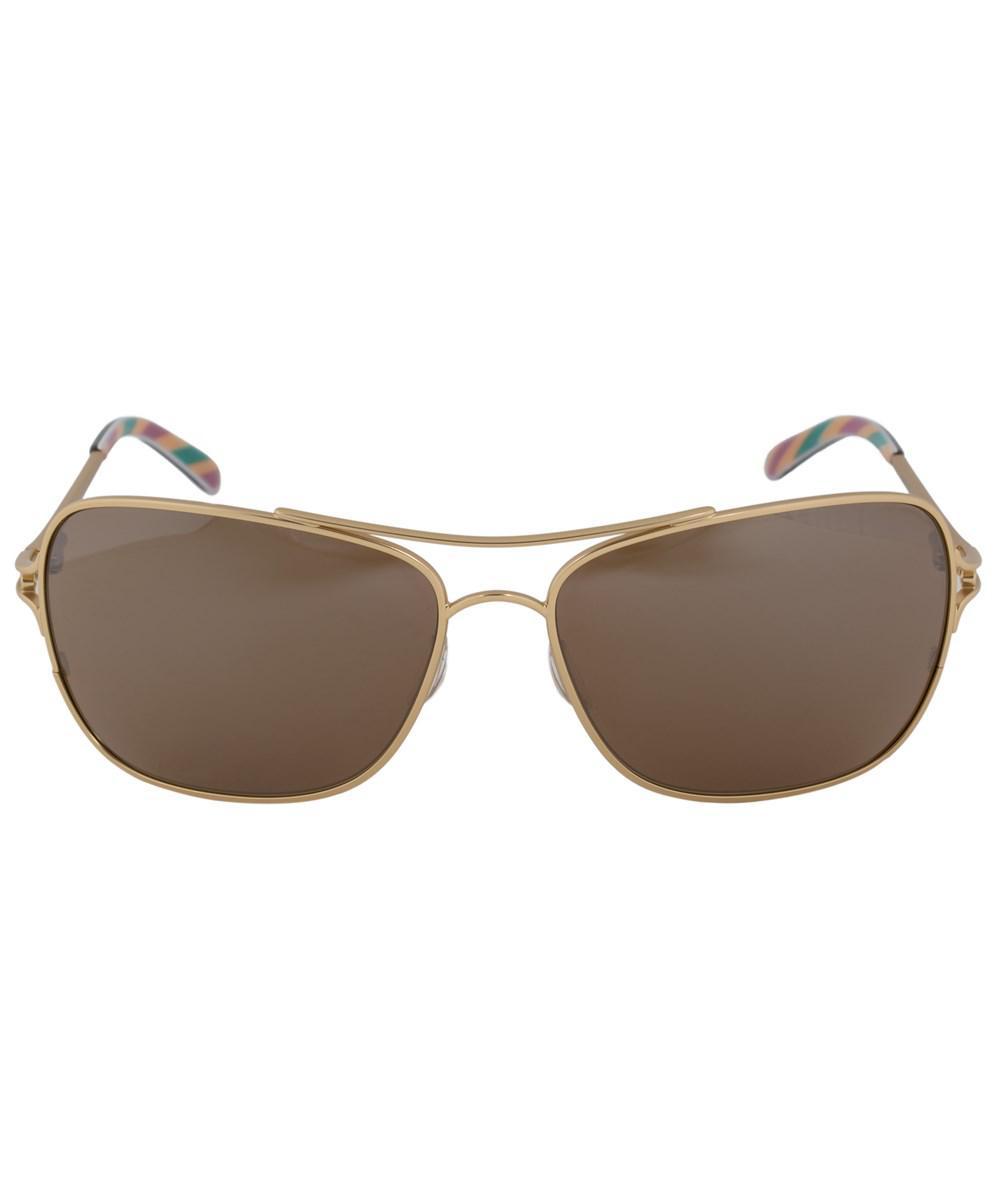 Lyst - Oakley Conquest Square Sunglasses 0oo4101 410103 59 | Gold ...