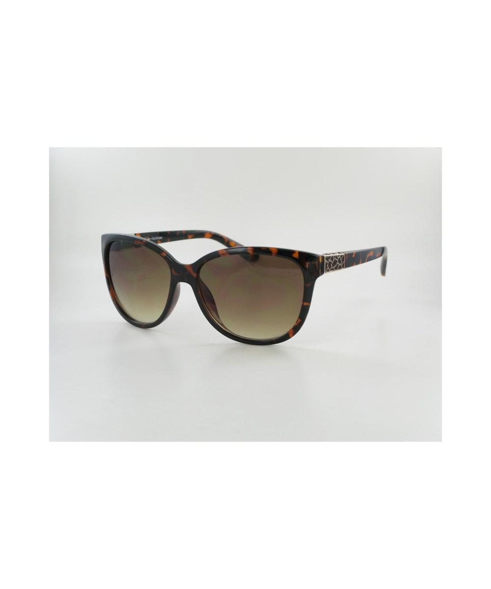Lyst - Kay Unger Brown Tortoise Print Frames With Brushed Gold ...