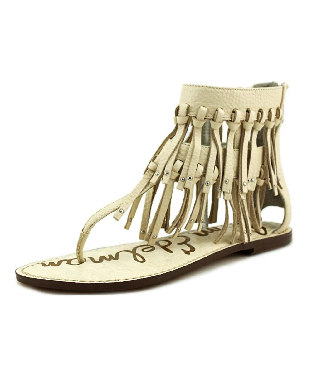 a0dc02329c1f88 Lyst - Sam Edelman Griffen Women Open Toe Leather Ivory Thong Sandal ...