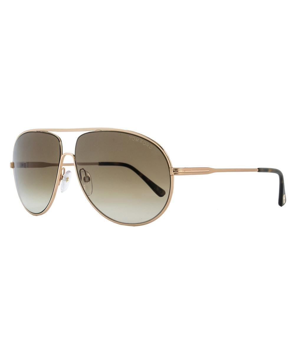 119349c8fe Lyst - Tom Ford Aviator Sunglasses Tf450 Cliff 28f Rose Gold havana ...