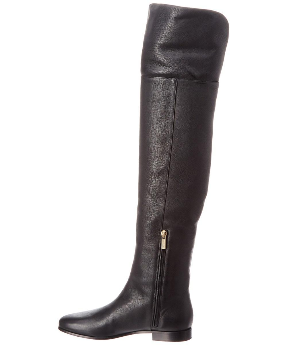 f43ffc59f7f Lyst - Jimmy Choo Mitty Leather Over-the-knee Boot in Black