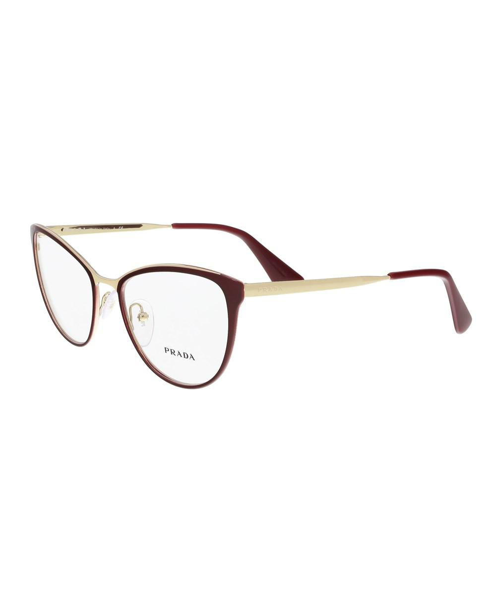 340b223cc3b ... greece lyst prada pr 55tv uf61o1 burgundy cateye sunglasses in red  1fbe6 78000