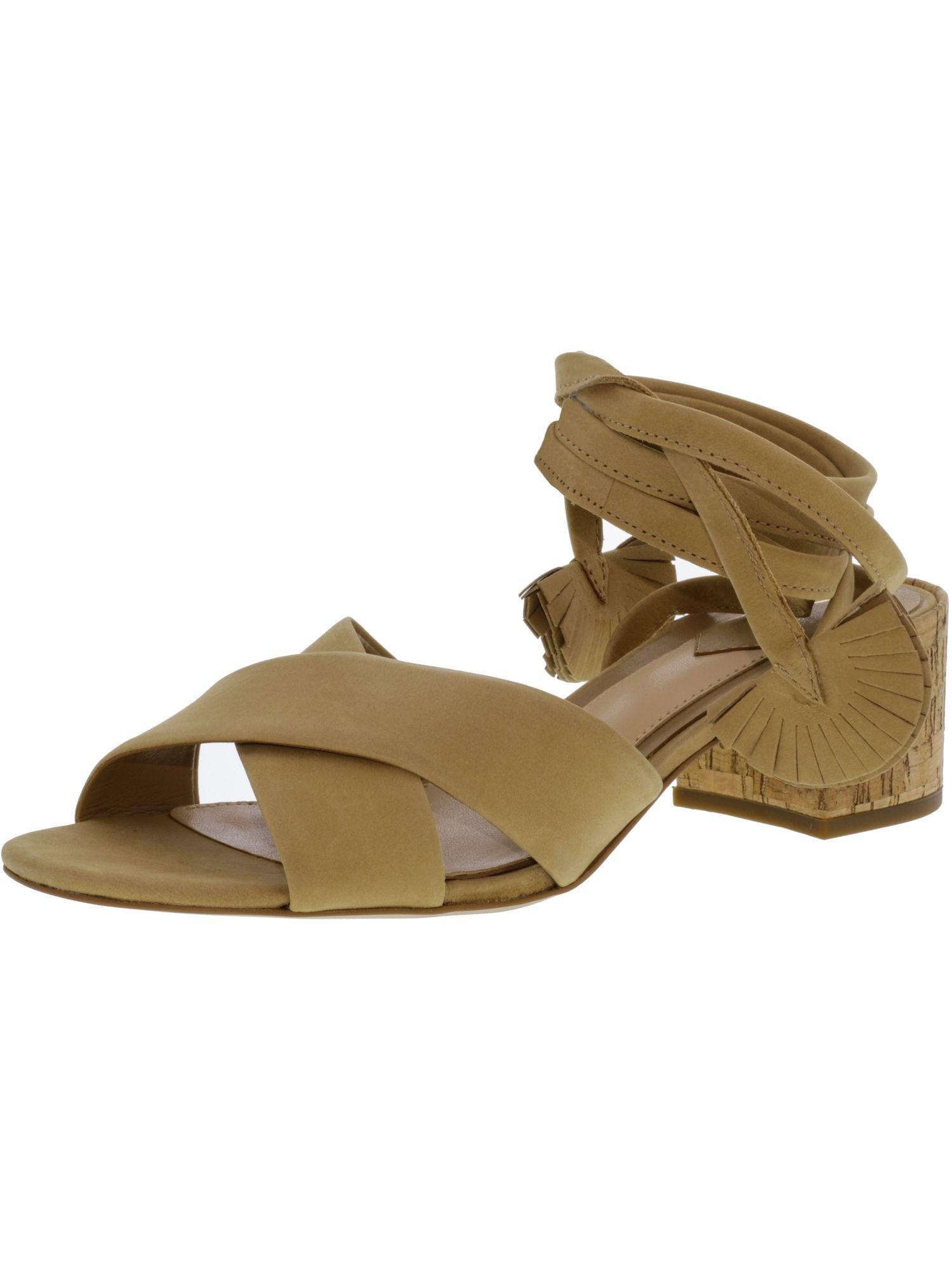 cbf487bcecf Lyst - Brian Atwood Women s B-astor Nubuck Leather Sandal in Brown