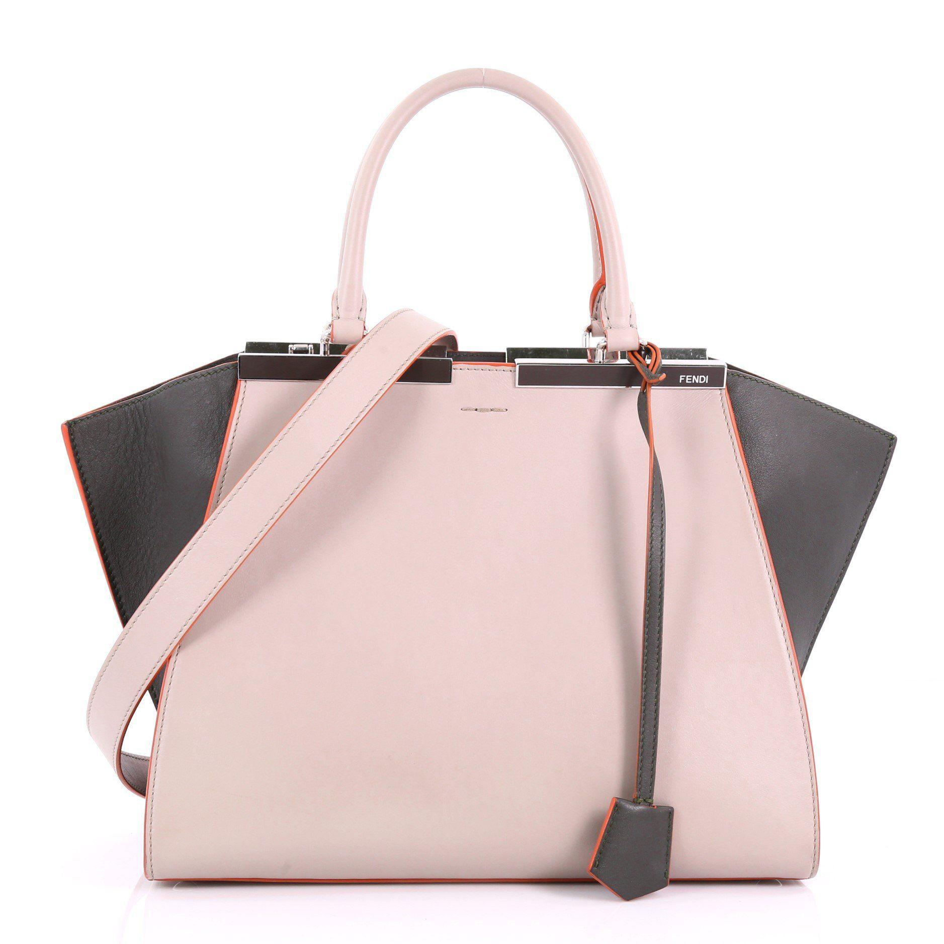 ba525c021e2a Lyst - Fendi Pre Owned Petite 3jours Handbag Leather in Pink