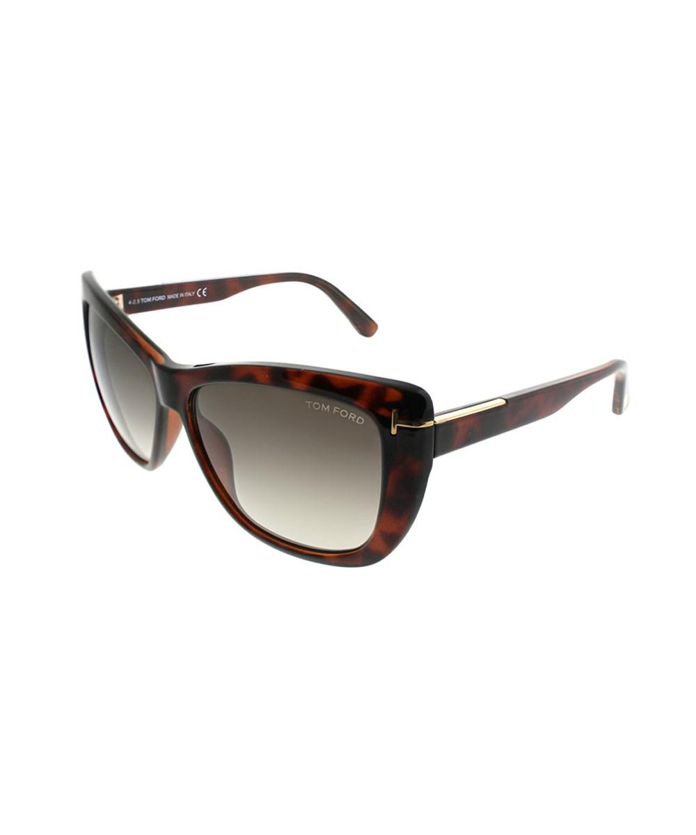 b9d95e4c49 Tom Ford - Brown Lindsay Tf 434 52k Dark Havana Cat-eye Sunglasses - Lyst.  View fullscreen