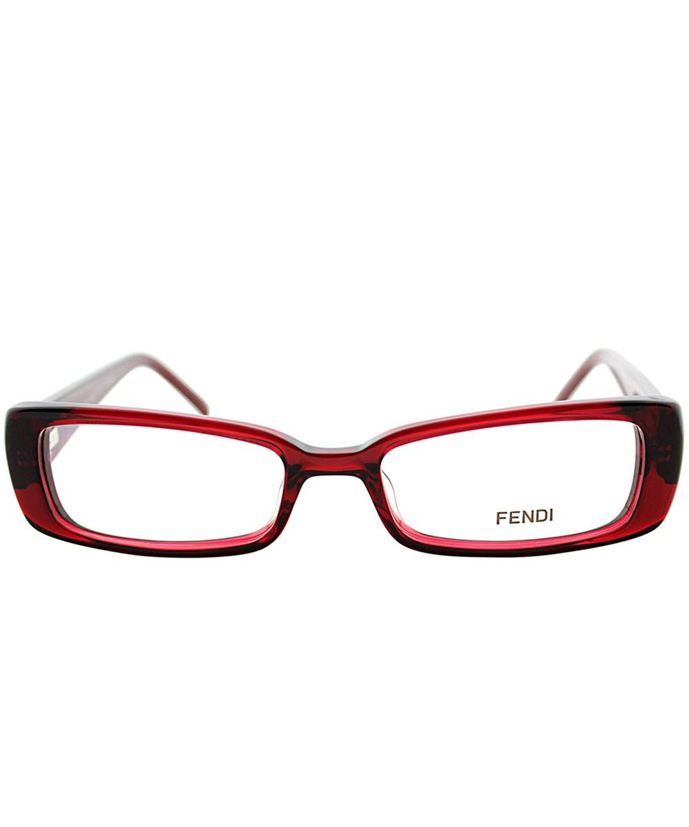 775fdfaa5248c Lyst - Fendi Fe 906 509 Berry Rectangle Eyeglasses