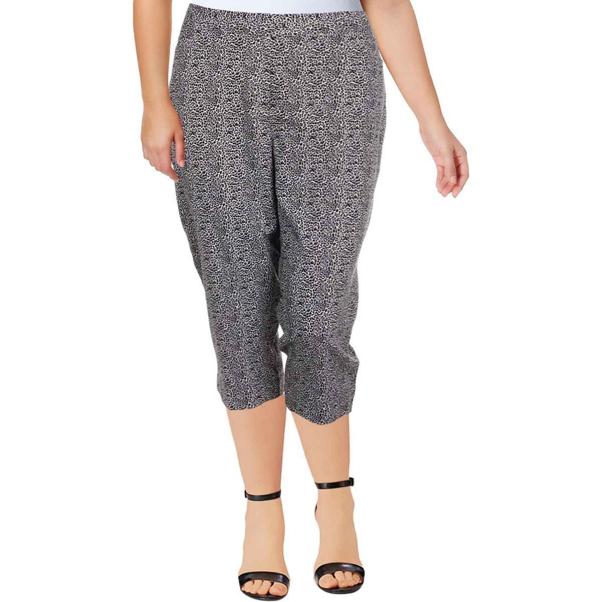 2428a1ee7e4 Lyst - Rafaella Womens Plus Animal Print Curvy Fit Capri Pants in Black