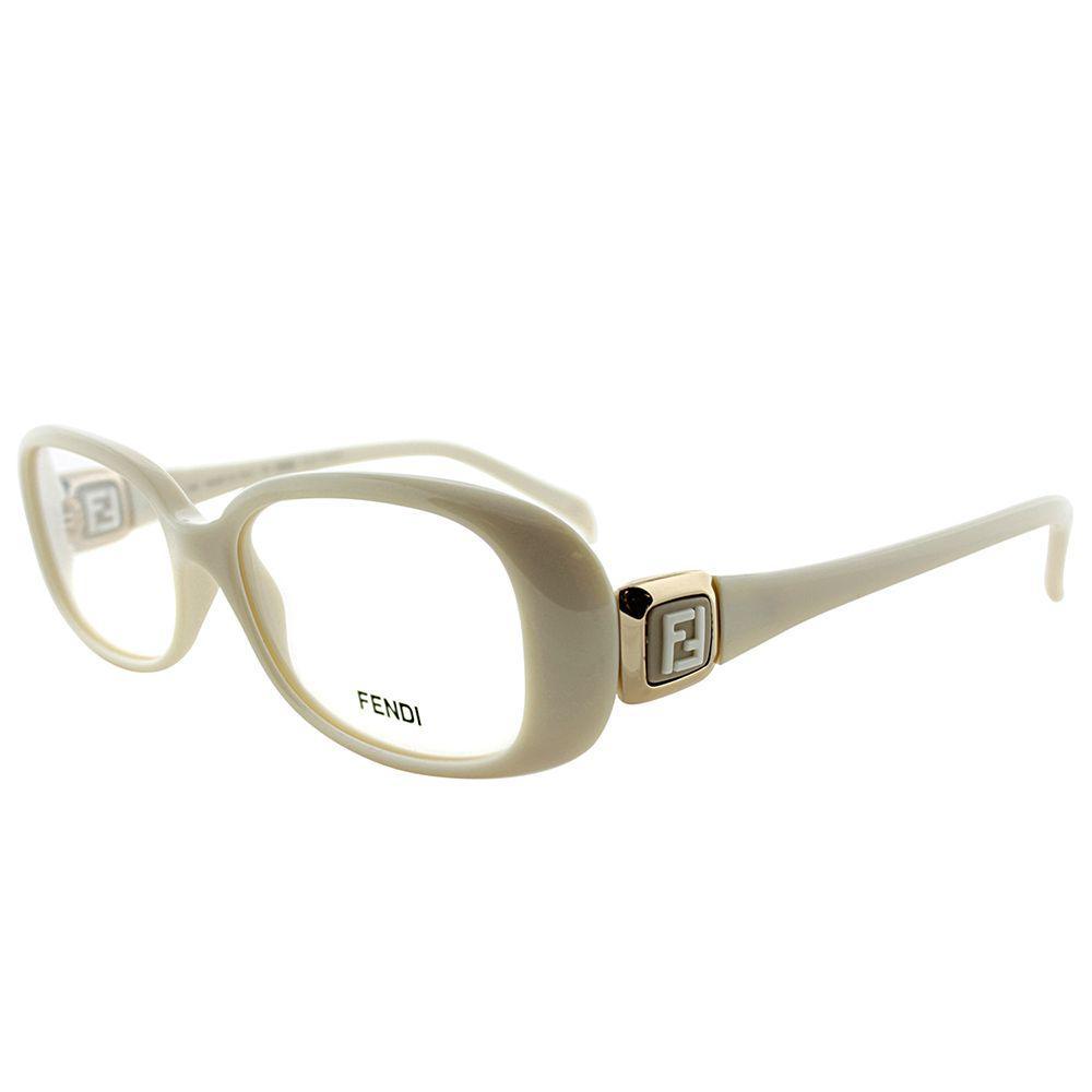 696c3a3d4ed5 Lyst - Fendi Fe 900 208 White Rectangle Eyeglasses