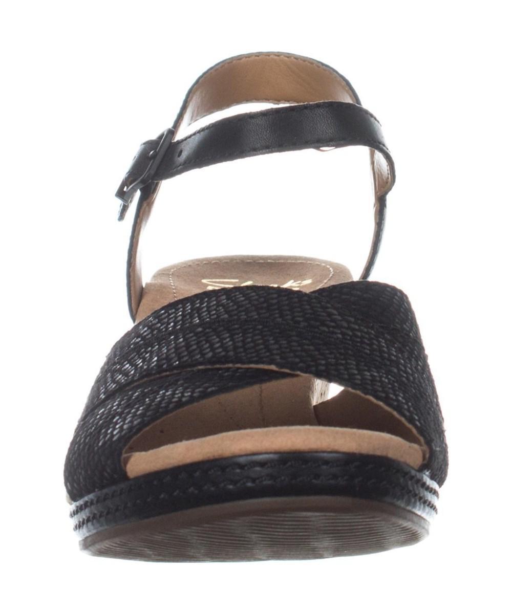 3d8650518a5 Lyst - Clarks Helio Latitude Comfort Wedge Sandals