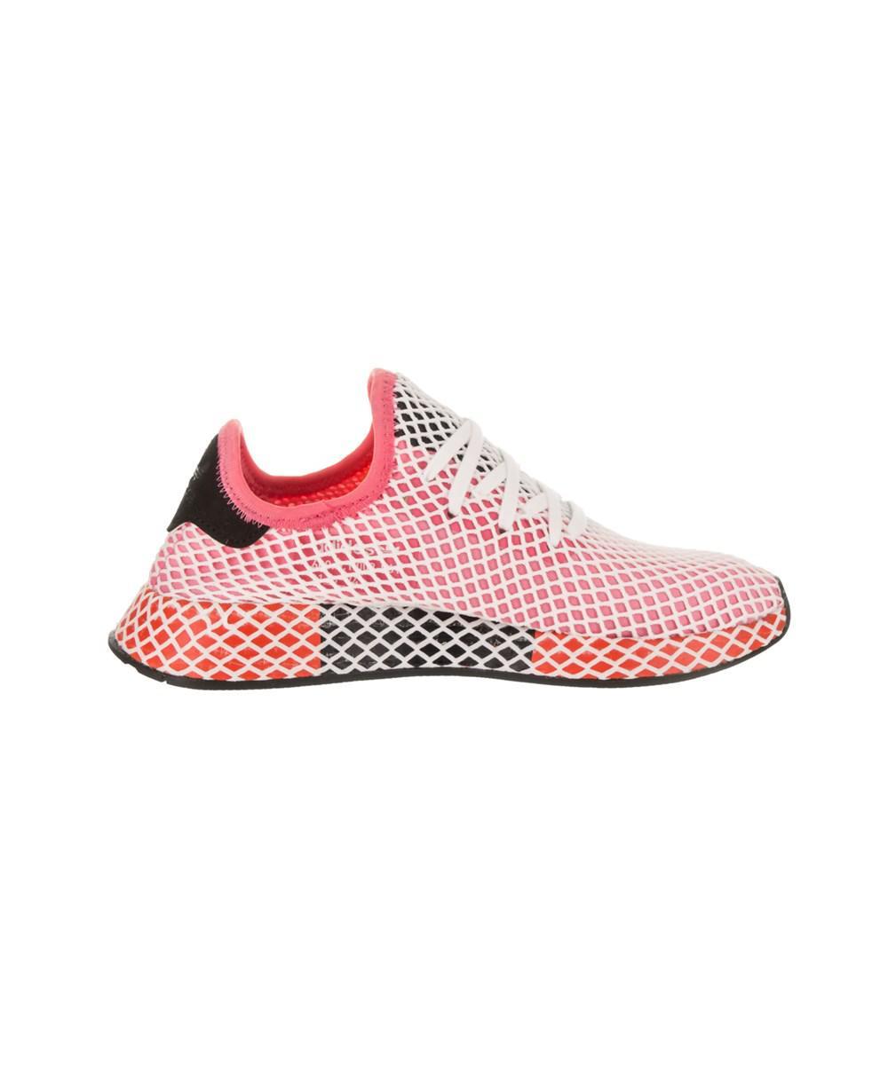 lyst adidas deerupt rosa bianco e rosso delle scarpe da ginnastica scarpe da donna