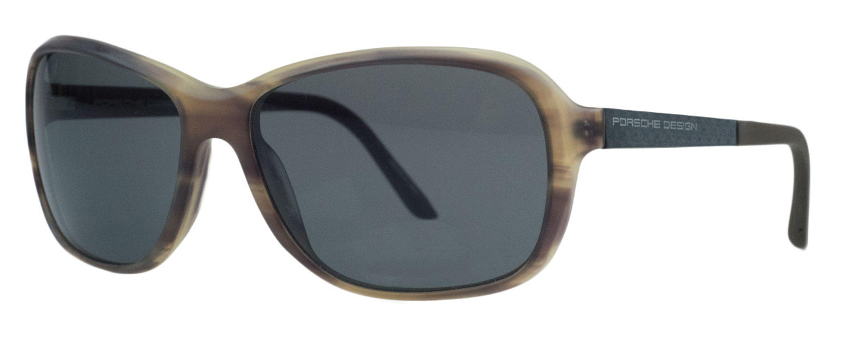 a794f691916 Lyst - Porsche Design P8558-b Brown Horn Rectangular Sunglasses