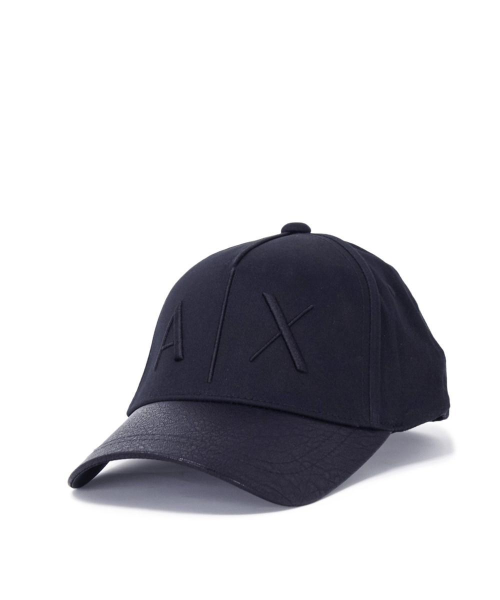 c281cc2549e Lyst - Armani Exchange Men s Blue Cotton Hat in Blue for Men - Save ...