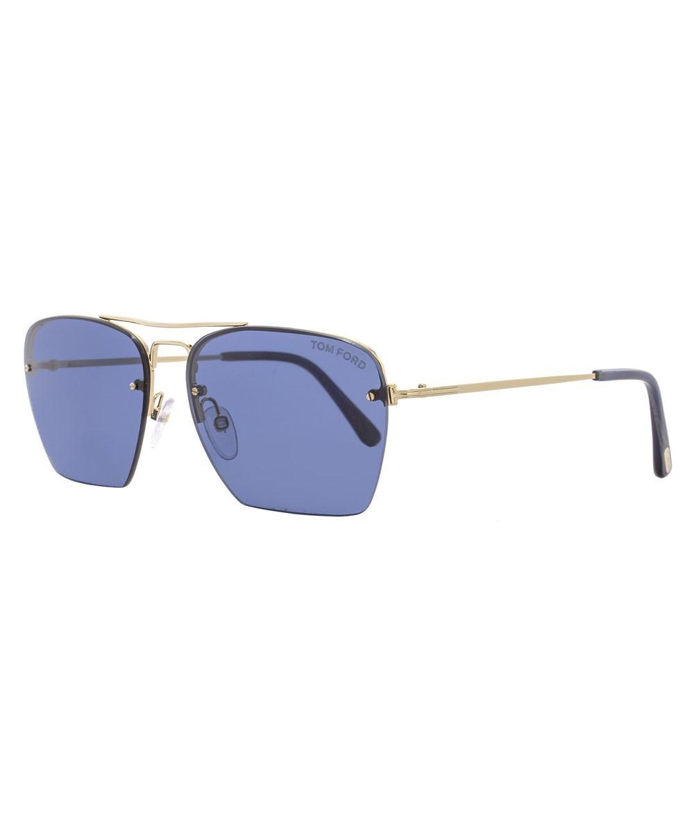 999b68d4cb0c Tom Ford Aviator Sunglasses Tf504 Walker 28v Rose Gold blue Horn ...