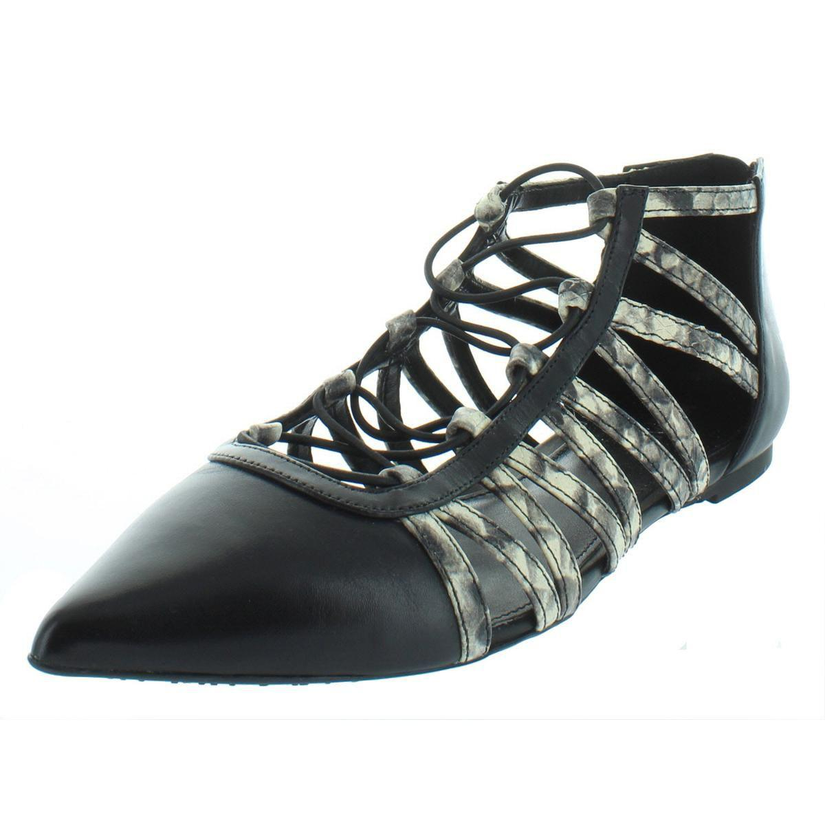 cd2c77c84914 Lyst - Michael Michael Kors Womens Clarissa Leather Dress Flats in Black