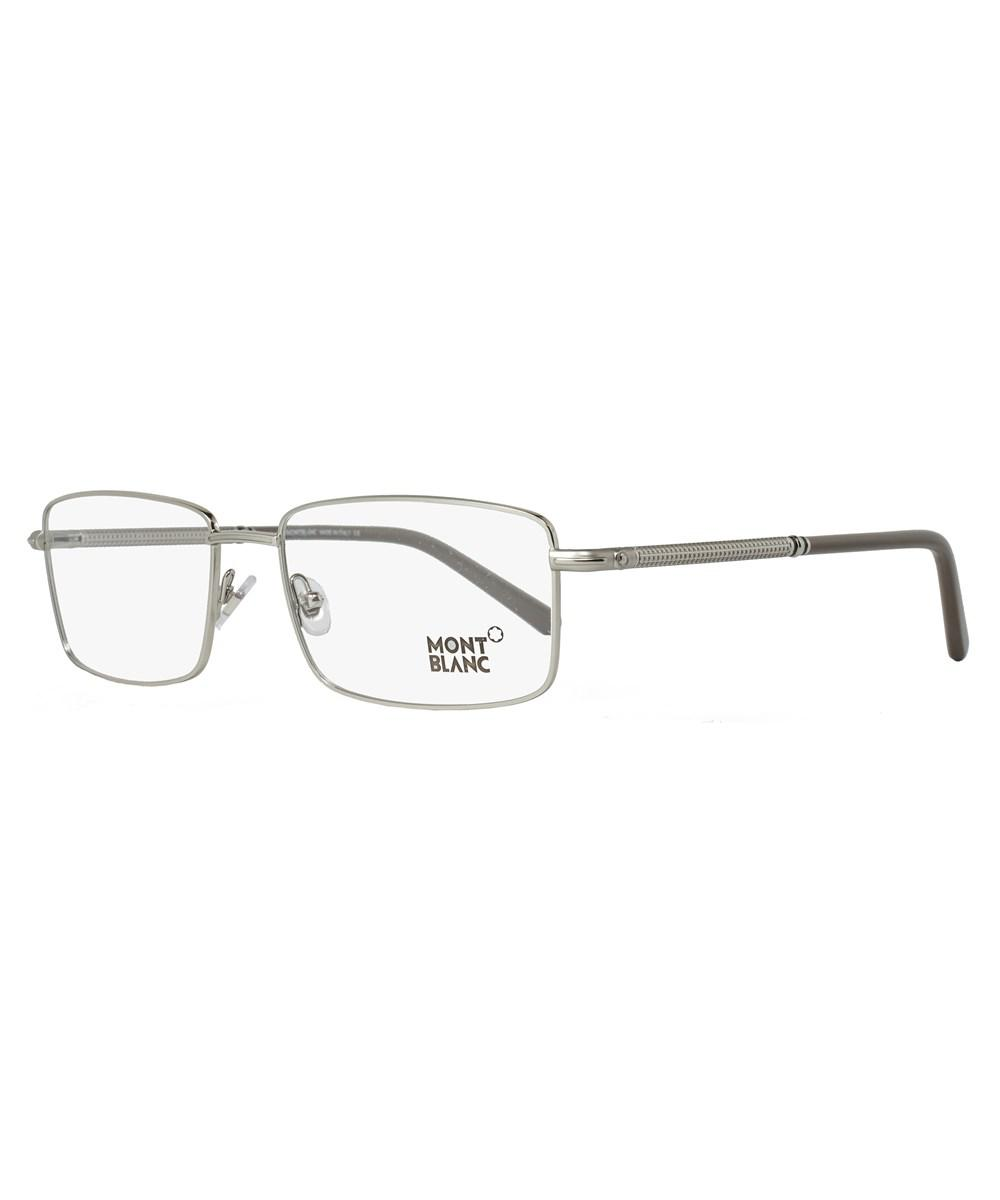 707b9a56e22a Montblanc Rectangular Eyeglasses Mb575 016 Size: 58mm Palladium/gray ...