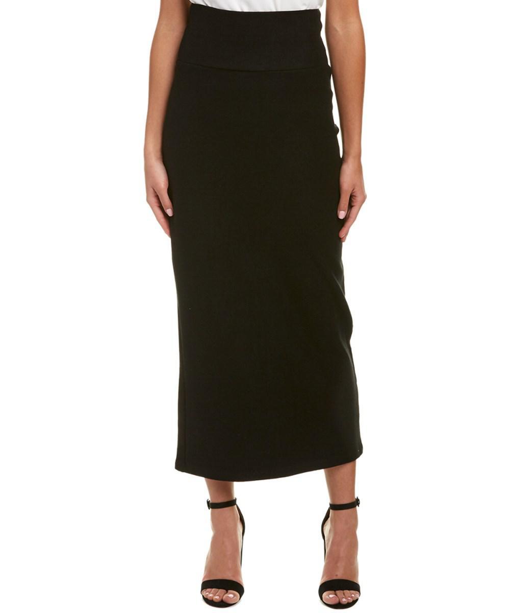 ef2f92ca15 Lyst - James Perse Felt Pencil Skirt in Black