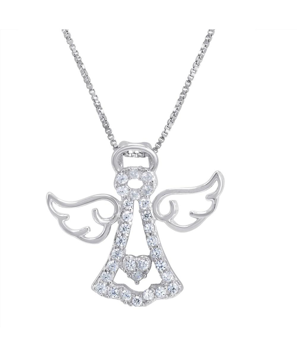 Amanda rose collection sterling silver angel pendant necklace made amanda rose collection womens metallic sterling silver angel pendant necklace aloadofball Gallery