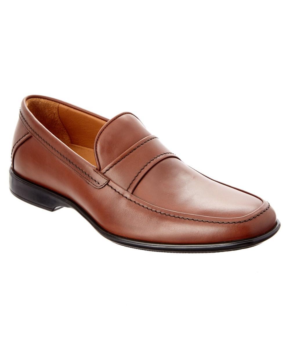 Aquatalia. Men's Brown Xaver Waterproof Leather Loafer