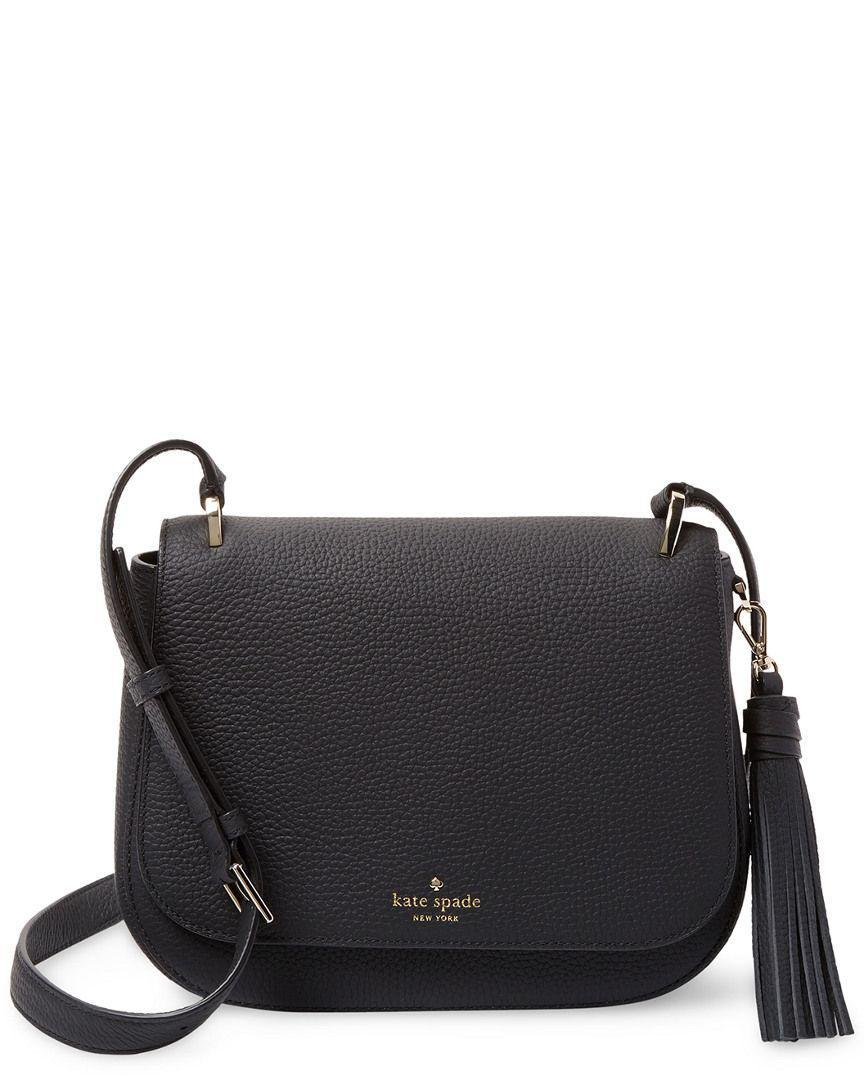 a6b0f83d19f Lyst - Kate Spade Tressa Leather Crossbody in Black - Save ...