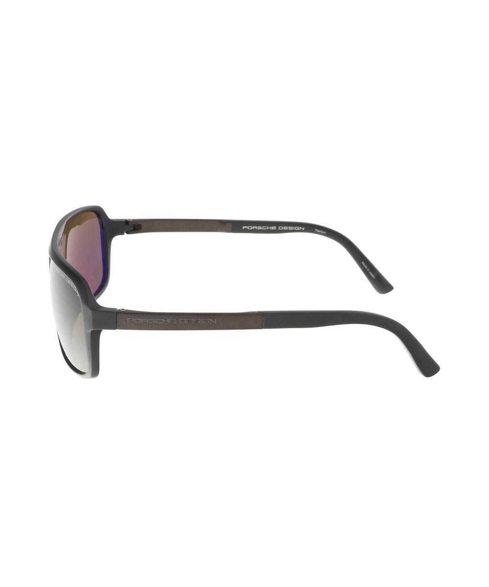 3ba54006306d Porsche Design - P8554-d Dark Brown Aviator Sunglasses for Men - Lyst. View  fullscreen