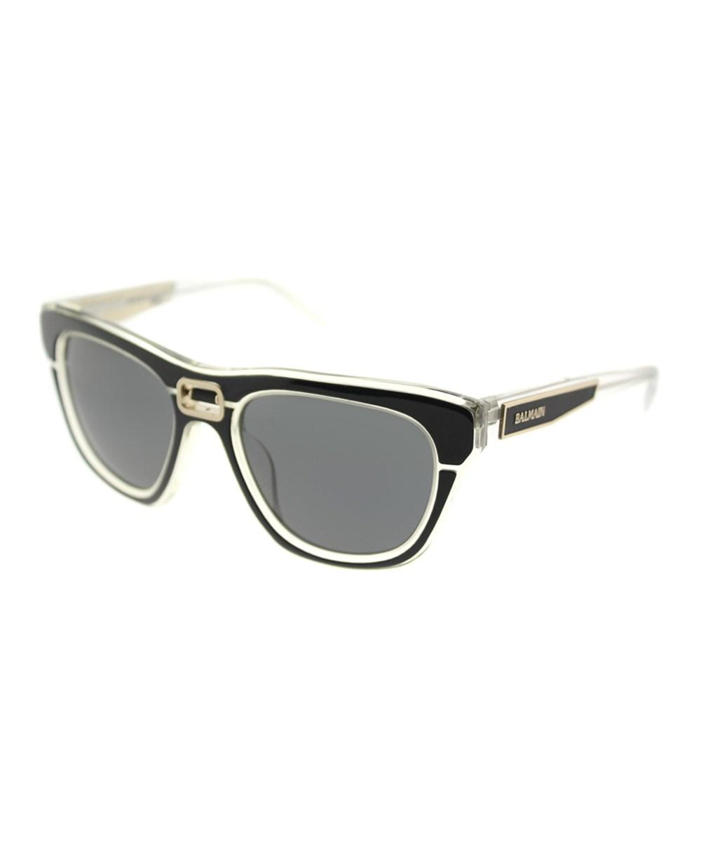 704dee125e Lyst - Balmain Bl 8095 C01 C01 Black Crystal Square Sunglasses in Black