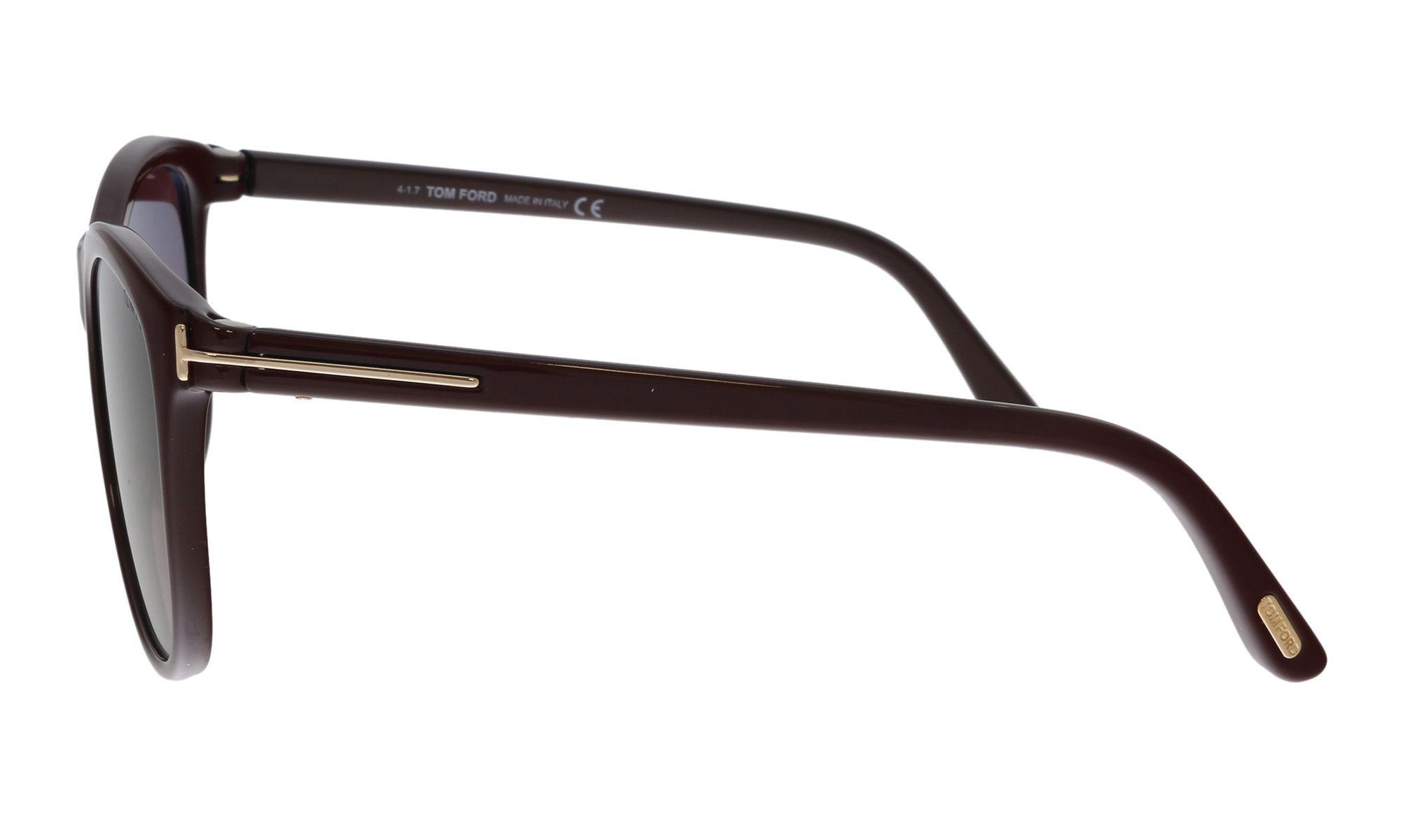 78ff1abd15e Lyst - Tom Ford Ft0567 69t Burgundy Square Sunglasses