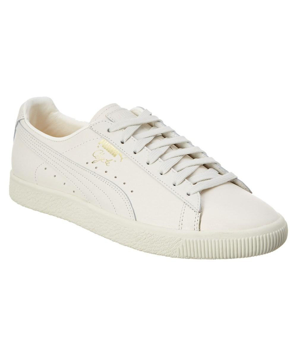 Puma Men's Clyde Natural Leather... factory outlet cheap online online sale online free shipping new styles cheap price low shipping fee choice cheap price q7dAjsTl
