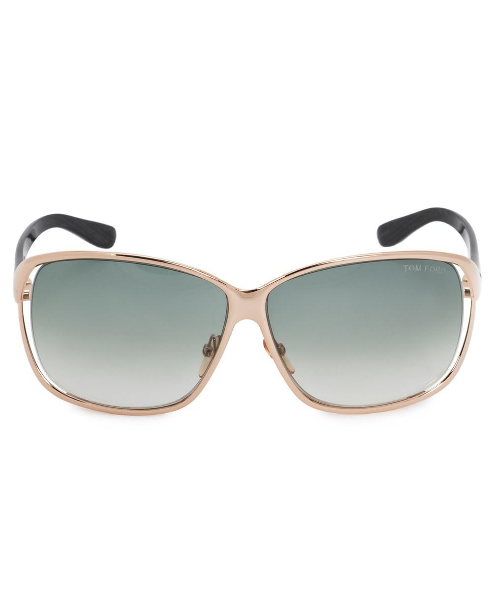 1d78f69d34d8 Lyst - Tom Ford Nicolette Oversized Sunglasses Ft0088 772 62