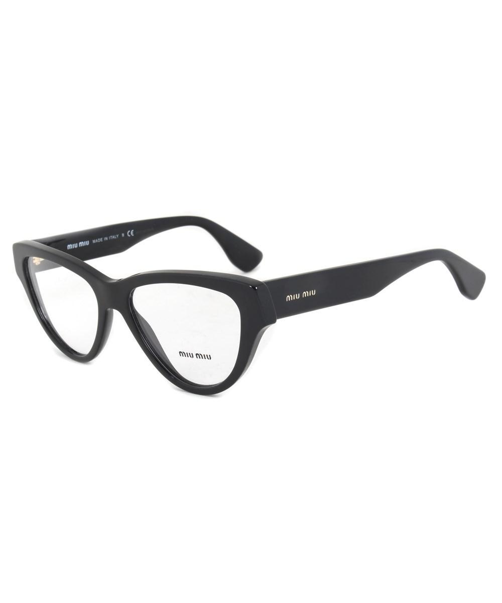 Lyst - Miu Miu Smu10nva 1ab1o1 Cat Eye | Black| Eyeglass Frames in Black