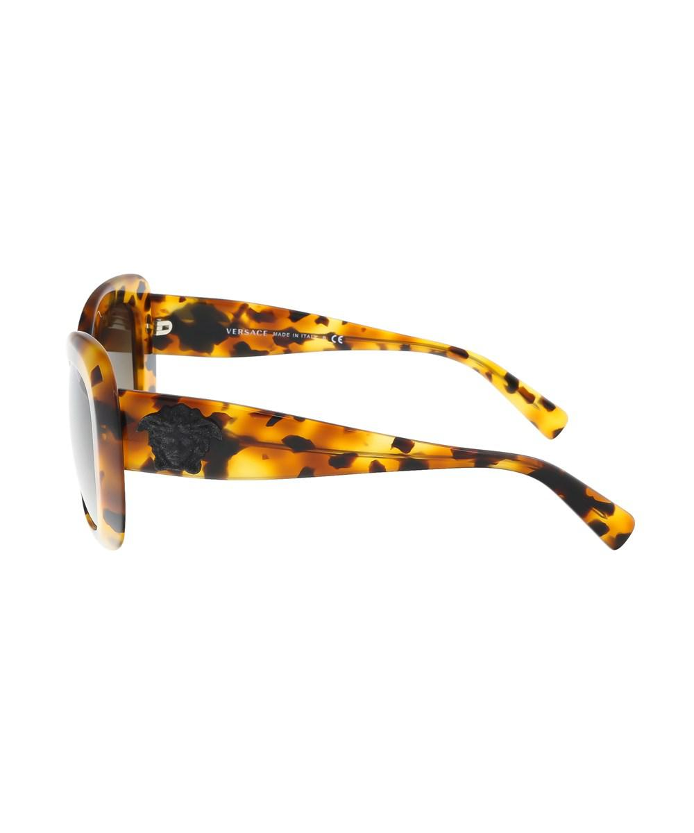 ccab8b1a003 Lyst - Versace Ve4317 260 13 Light Havana Rectangle Sunglasses in Brown