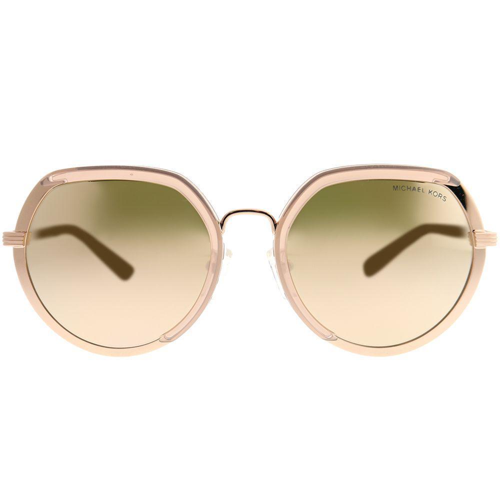 aa1c199324 Michael Kors - Metallic Ibiza Mk 1034 32465a Rose Gold Round Sunglasses -  Lyst. View fullscreen